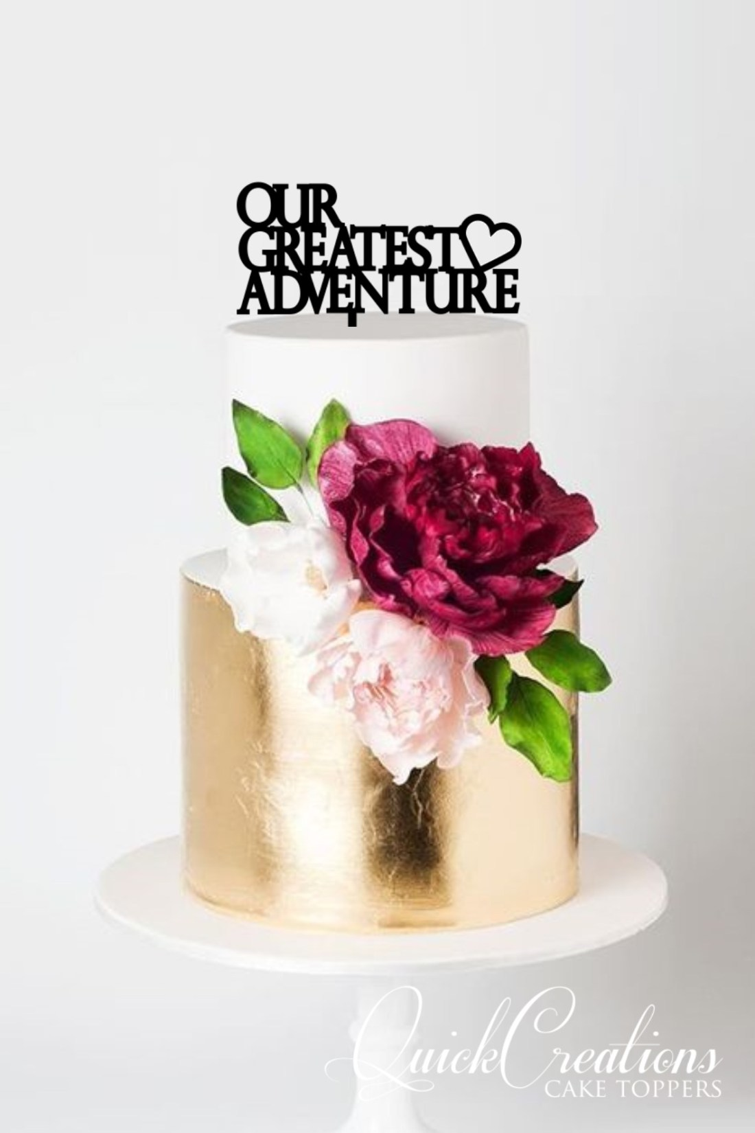 Quick Creations Cake Topper - Our Greatest Adventure Heart