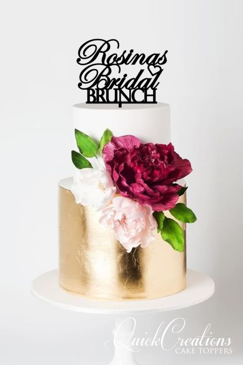 Quick Creations Cake Topper - Rosina's Bridal Brunch