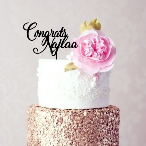 Congrats Personalised Cake Topper