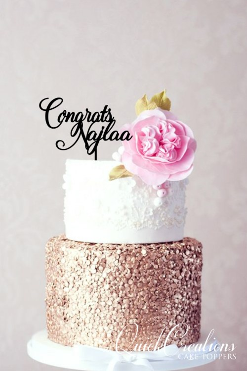 Quick Creations Cake Topper S- Congrats Najala