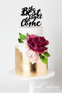 Quick Creations Cake Topper - The Best Is Yet To Come