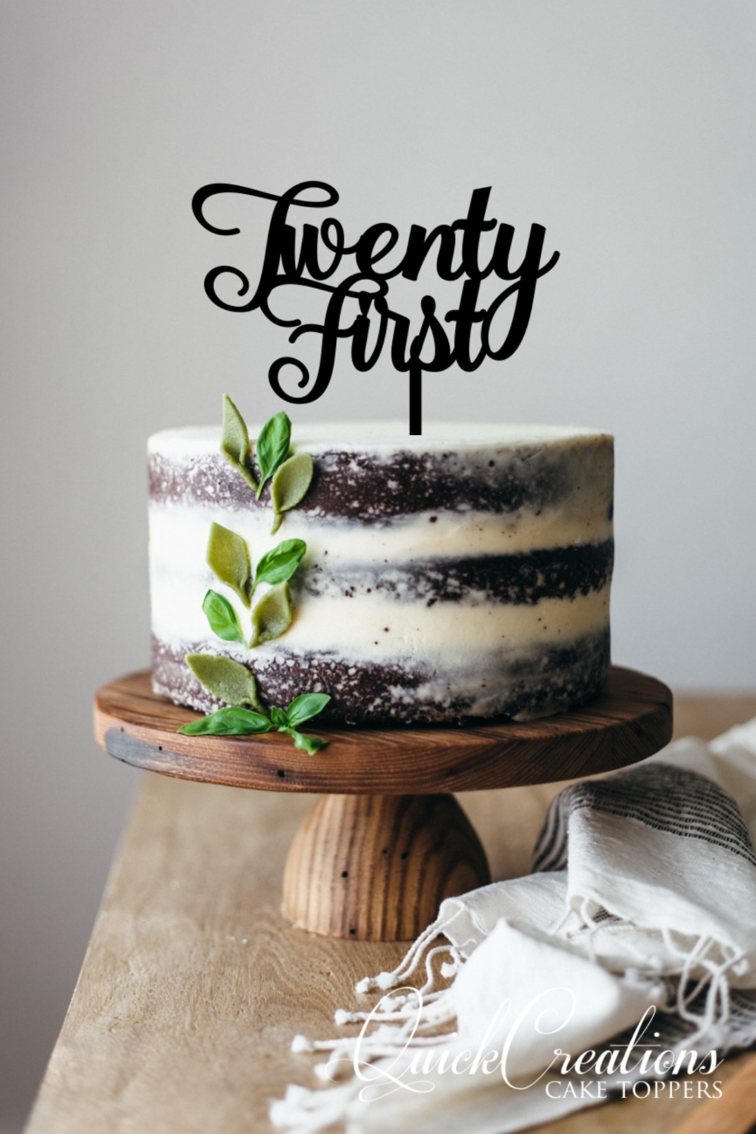 Quick Creations Cake Topper - Twenty First