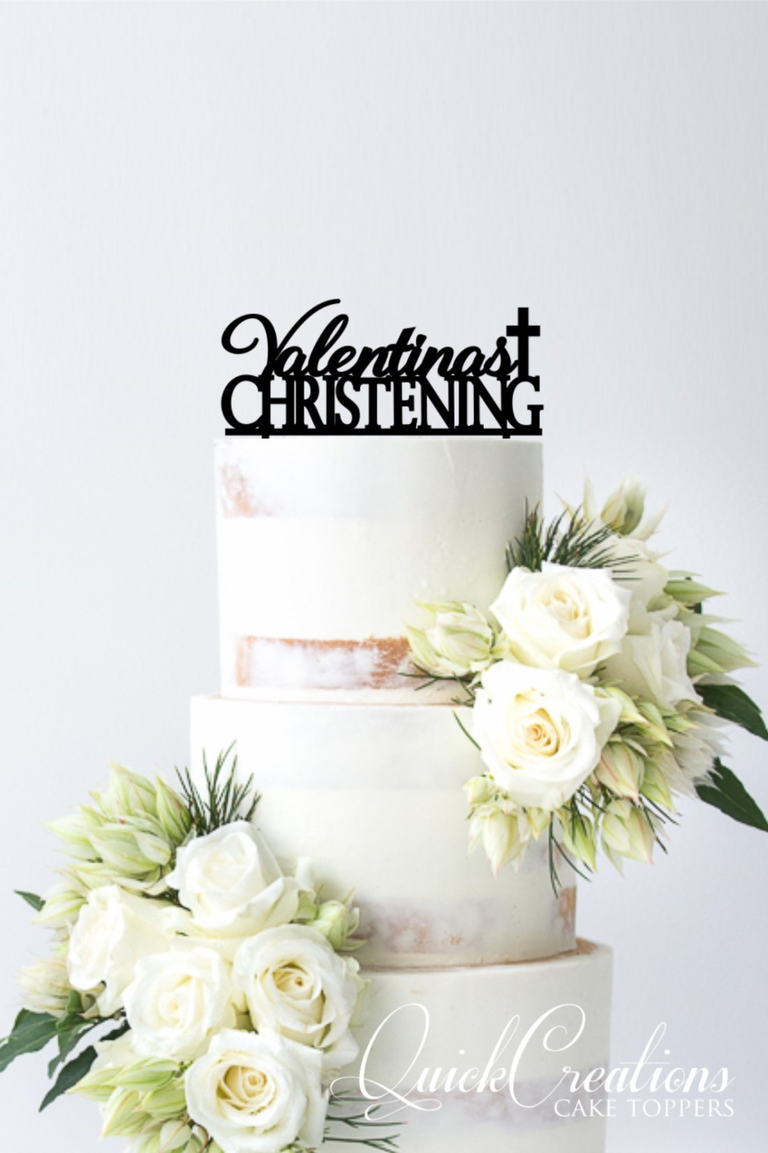 Quick Creations Cake Topper - Valentinas Christening Cross