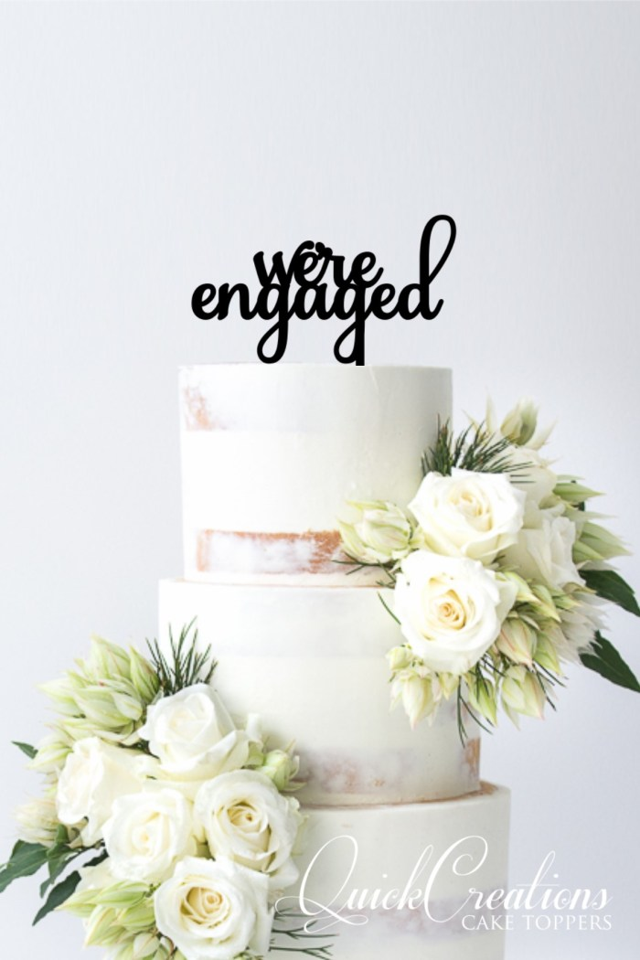Quick Creations Cake Topper - We're Engaged