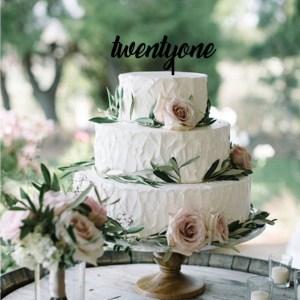 Quick Creations Cake Topper - twentyone