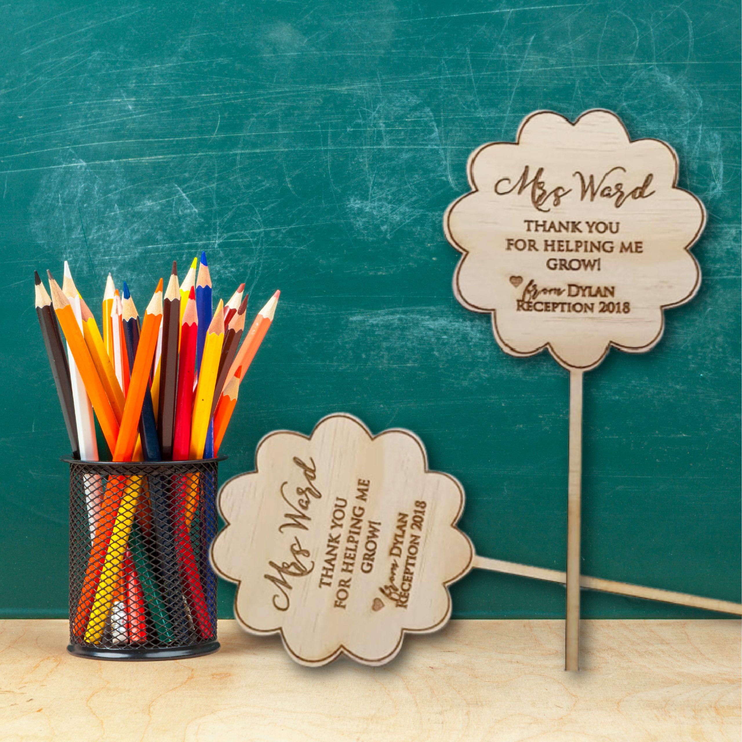 Flower Pick Teacher Gift
