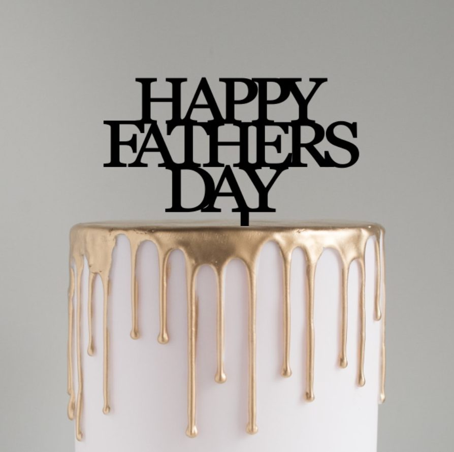 Fathers Day Cake Topper CAPITALS