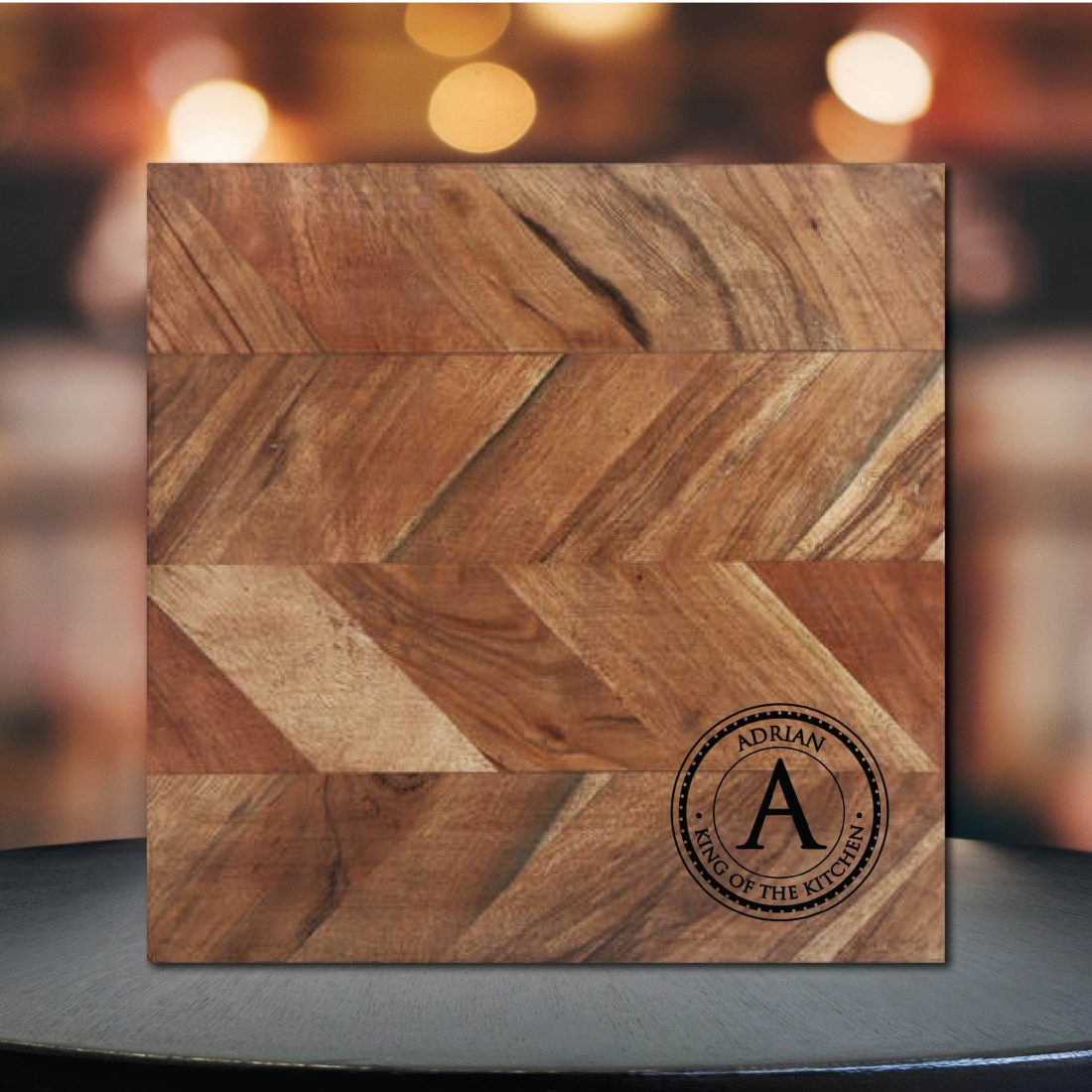 Initials King of the Kitchen Chopping Board