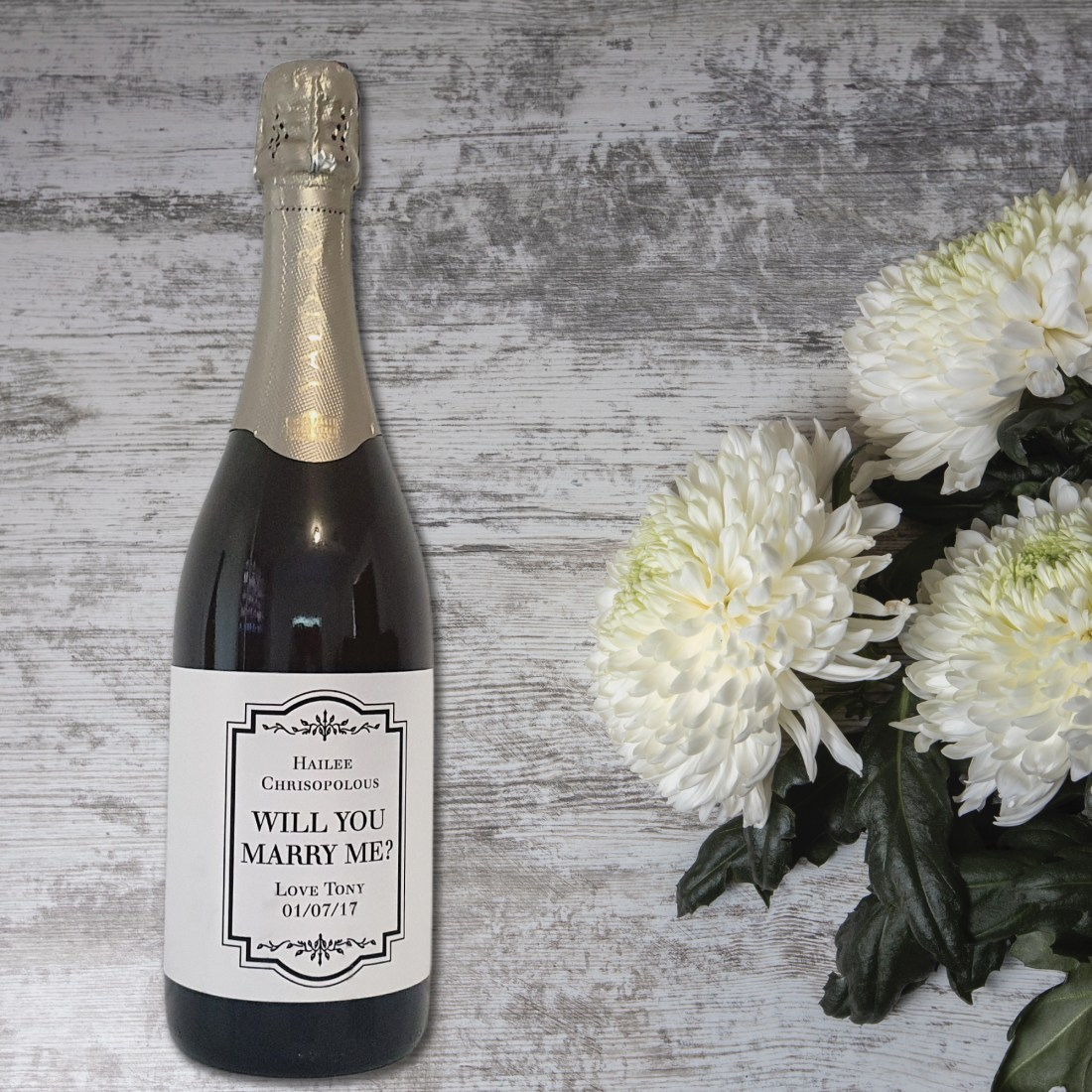 Will You Marry Me? Wine Champagne Bottle Label