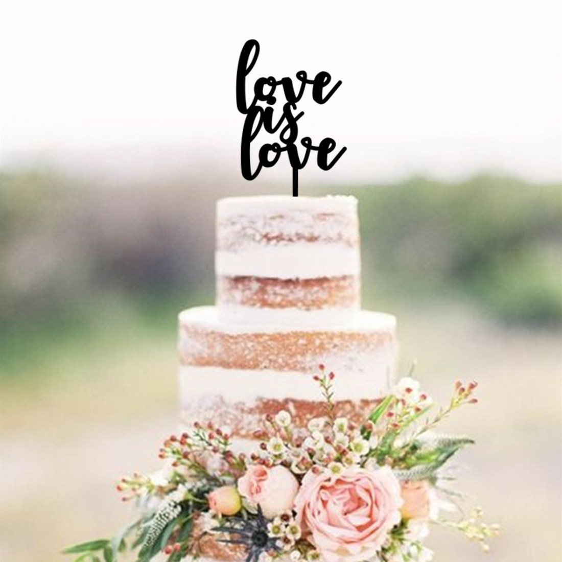 Love is Love Cake Topper