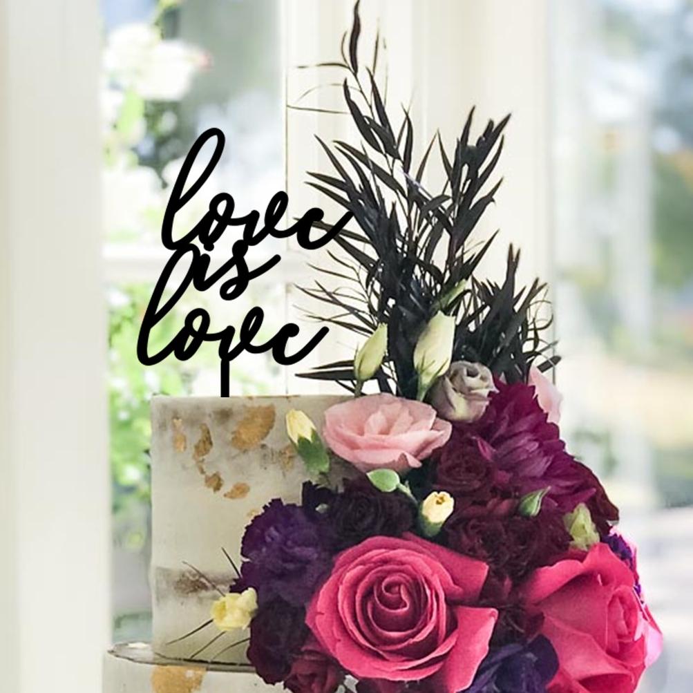Love is Love Signature Cake Topper