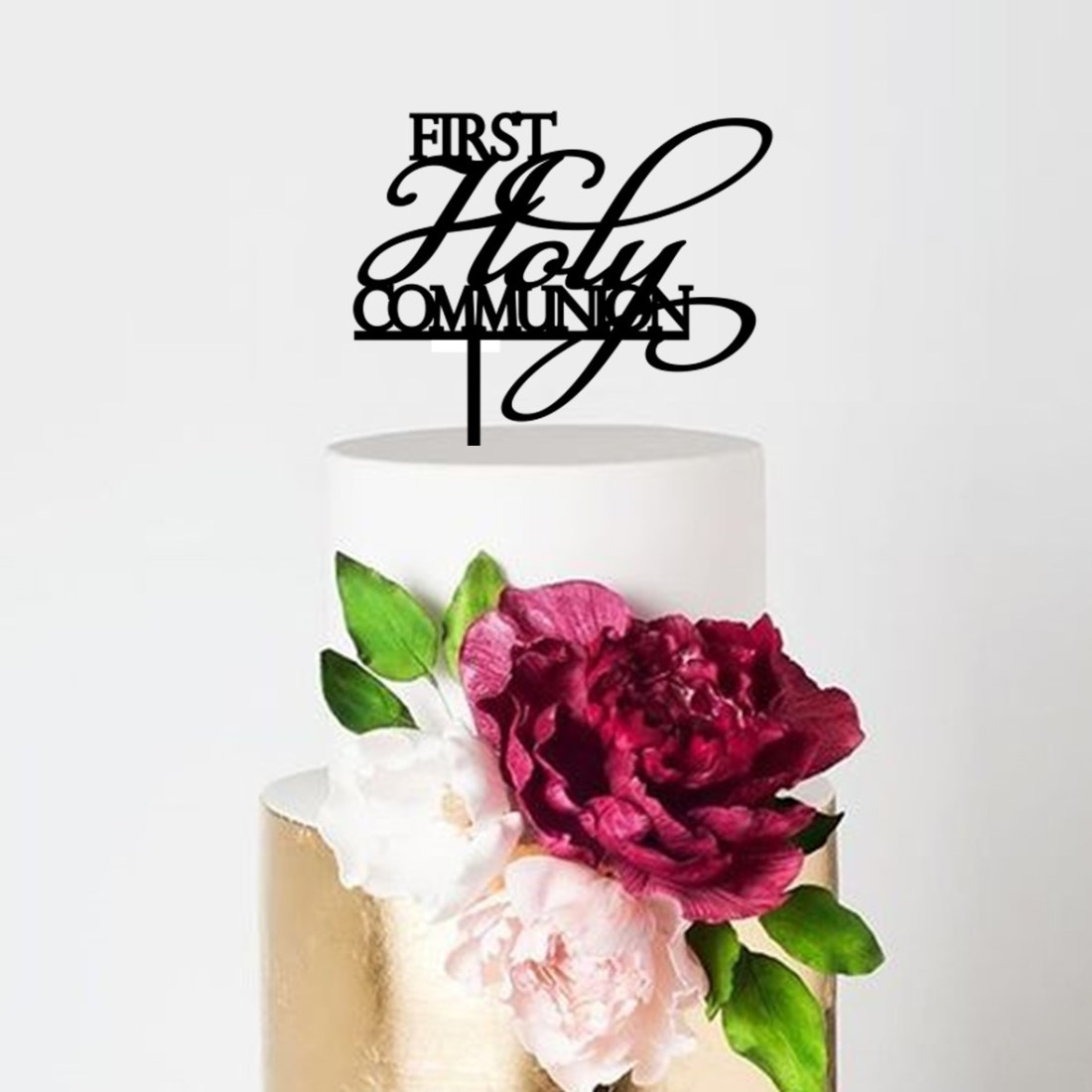 Script First Holy Communion Cake Topper