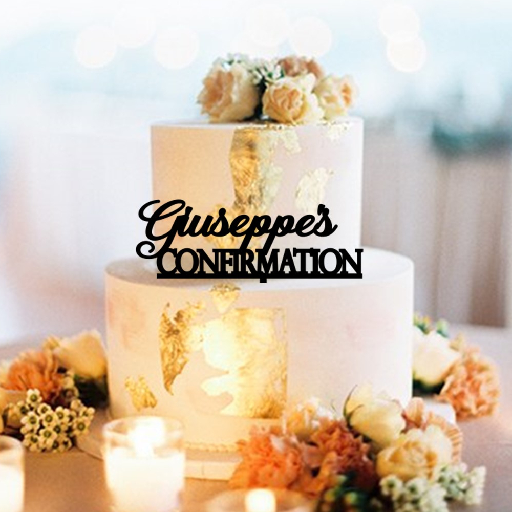 Personalised Name Confirmation Cake Topper