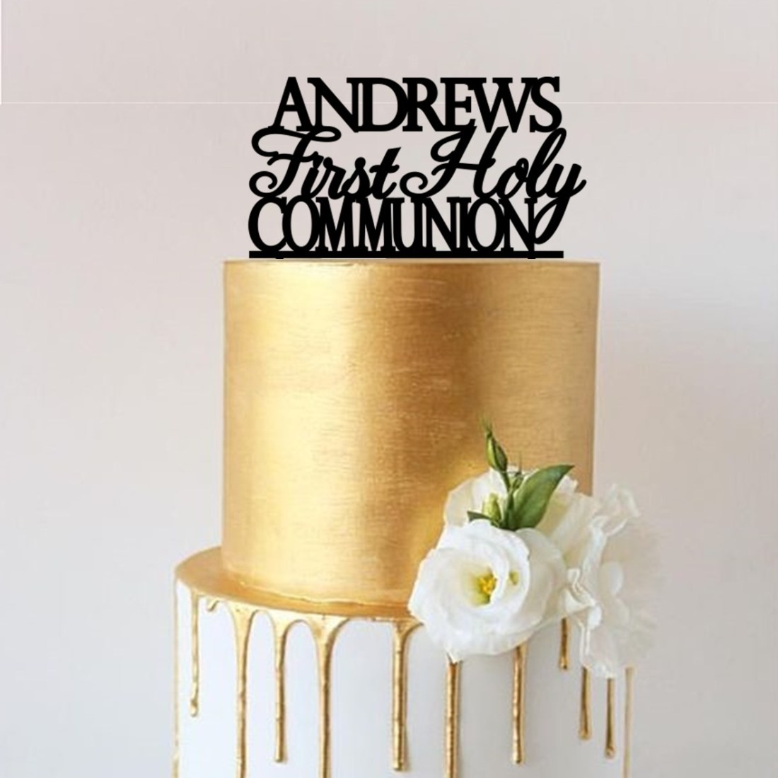 Personalised Name First Holy Communion Cake Topper
