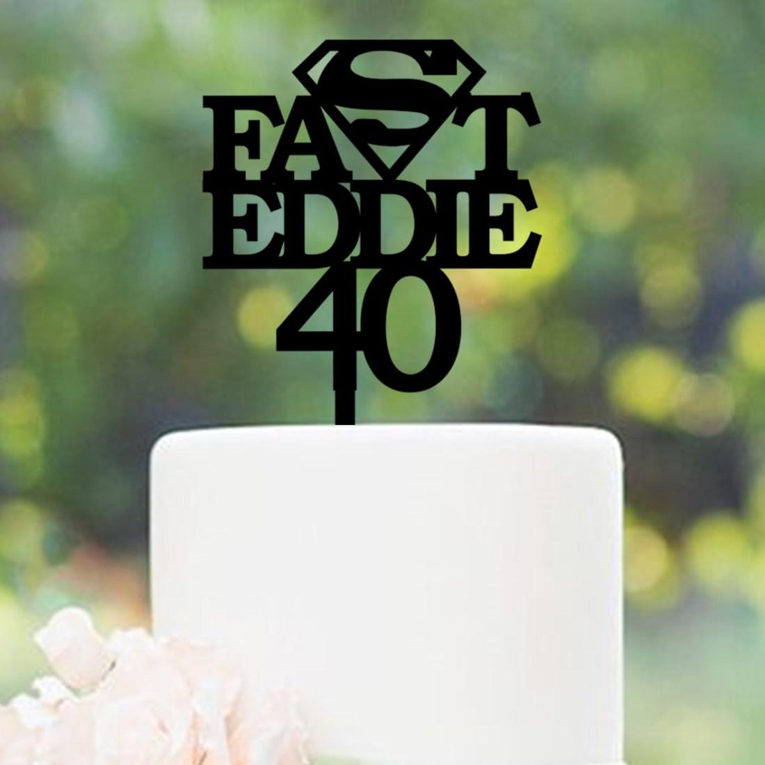 Personalised Superhero Cake Topper