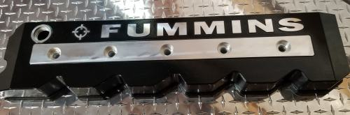 black fummins valve cover