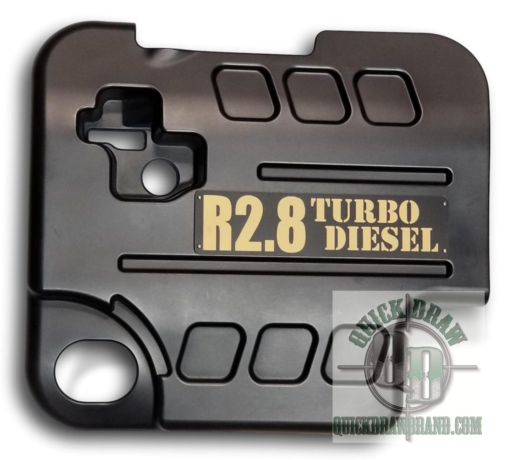 Cummins r2.8 engine cover black tan letters