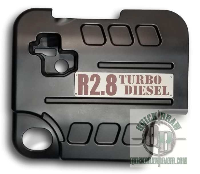Cummins r2.8 engine cover gray brown letters