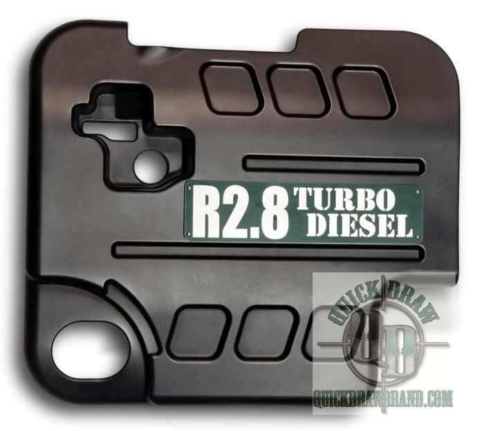 Cummins r2.8 engine cover green white letters