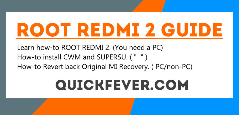 How to Root Redmi 2 [100% Working] With TWRP and Magisk