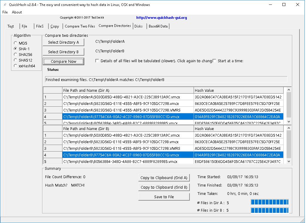 QuickHash-CompareTwoFolders