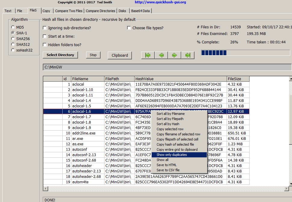 QuickHash v3.0.0 - Early Insight