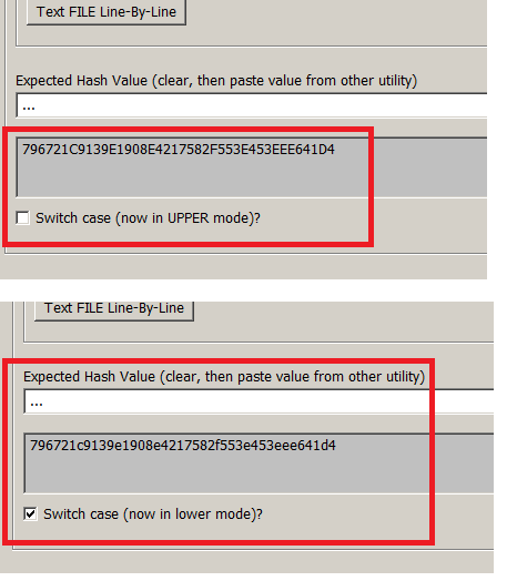 QuickHash - new hash result case switcher