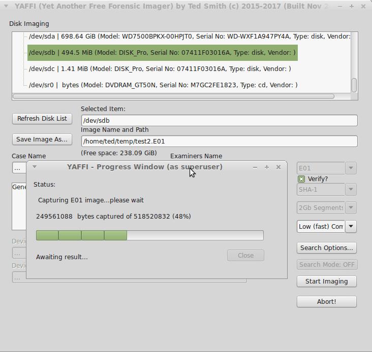 YAFFI-Running-Linux