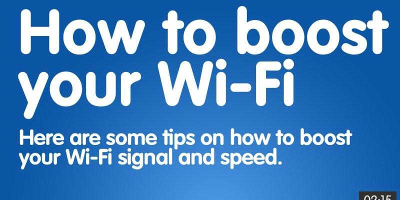 improve wifi