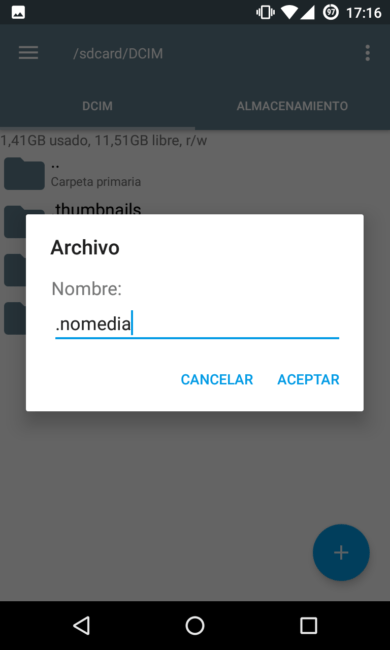 hidden files on android