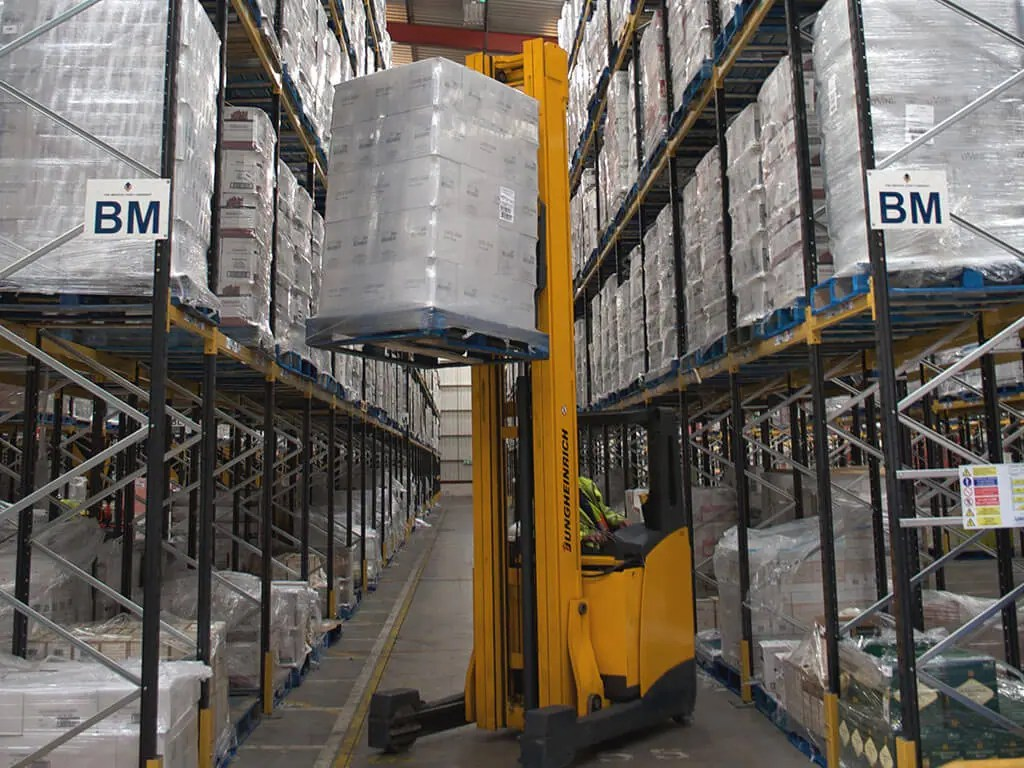 Wide aisle racking  warehouse storage solutions