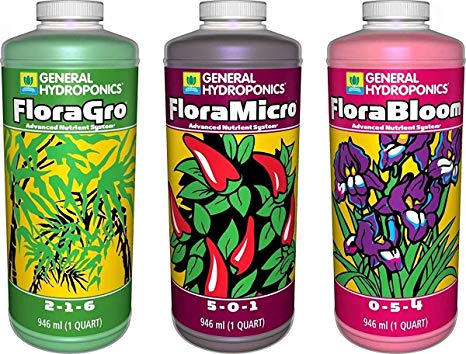 General Hydroponics Nutrient Combo Pack
