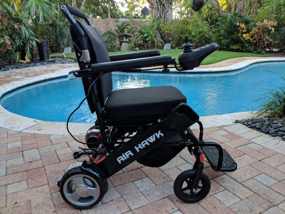 Airhawk Power Folding Wheelchair Quick N Mobile 888