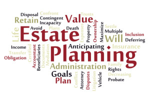 Estate planning word cloud