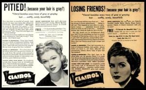 Clairol vintage ads hair dye
