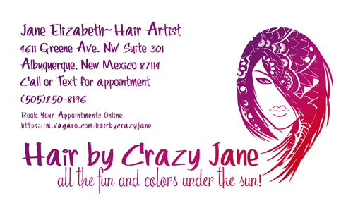 Biz Card for Hair by Crazy Jane