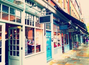 Image of shops in London