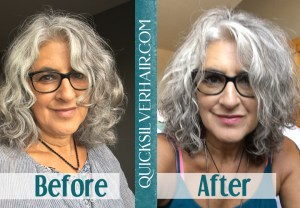 QuickSilverHair Reviews Before and After Collage