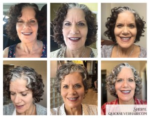 Collage image of Sheryl T Transition To Gray Hair