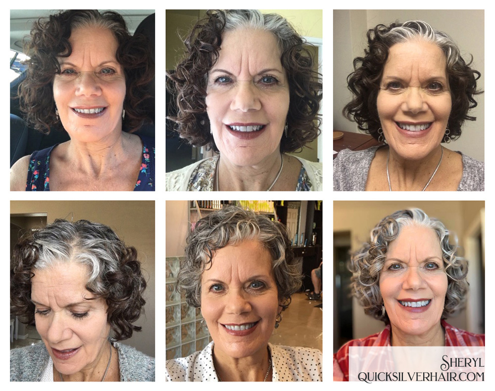 Sheryl T Transition To Gray Hair Collage Image