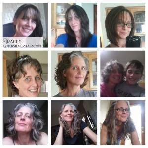 Tracey Transition To Gray Hair Collage Image