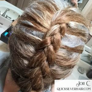 Image of Red and Silver dutch Braid
