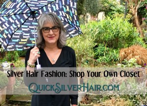 Featured Image for QuickSilverHair blog post Silver Hair Fashion: Shop Your Own Closet
