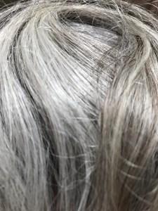 Image of gray hair folded
