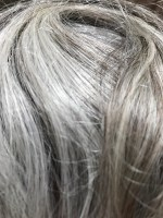 Image of gray hair folded