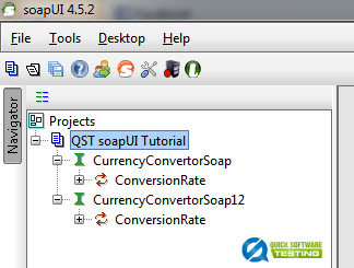 WSDL Added to a new soapUI Project