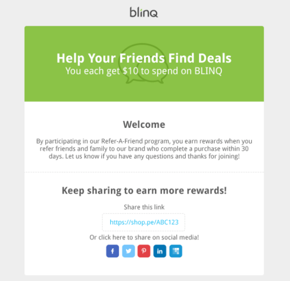 blinq referral email