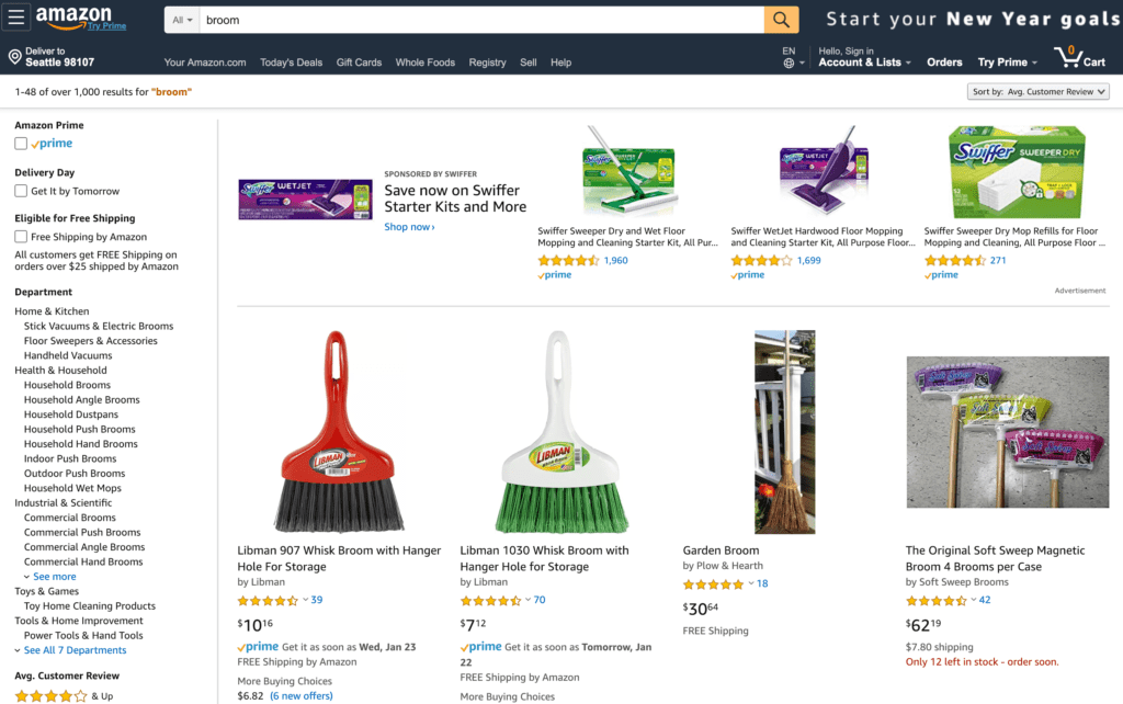 Amazon Platform Marketing - Escoba