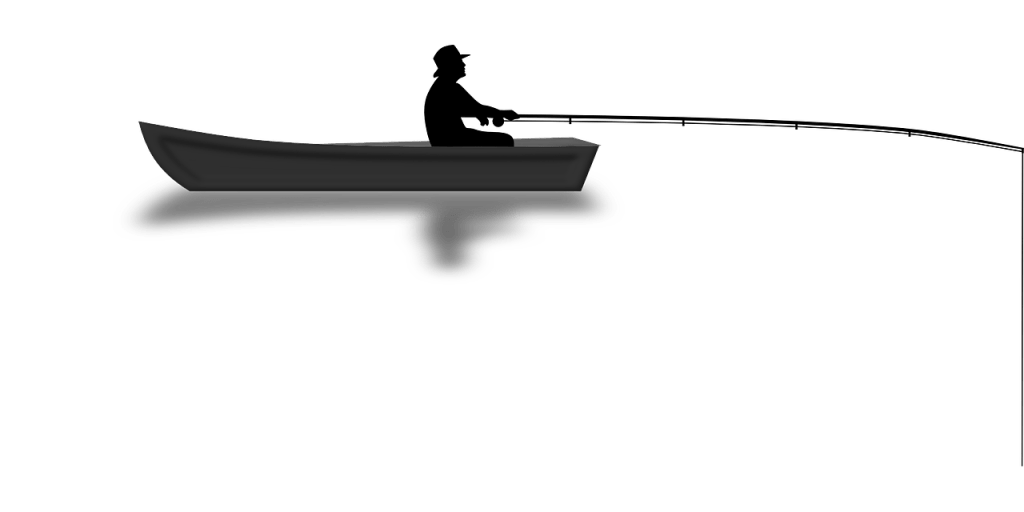 angler, boat, fishing