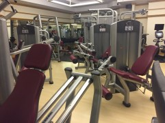 Weight machines; there was plenty of room for full motion and to walk between the machines